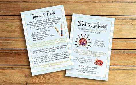 Lipsense Flyer and tips and Tricks What Is Lipsense Card