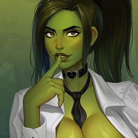 She-Hulk office girl! by Mikiron on Newgrounds