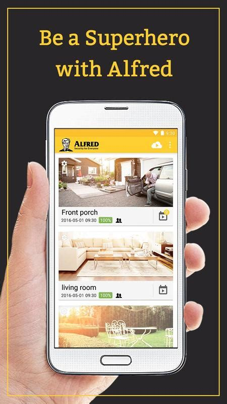 DIY CCTV IP Camera for Home Security - Alfred for Android
