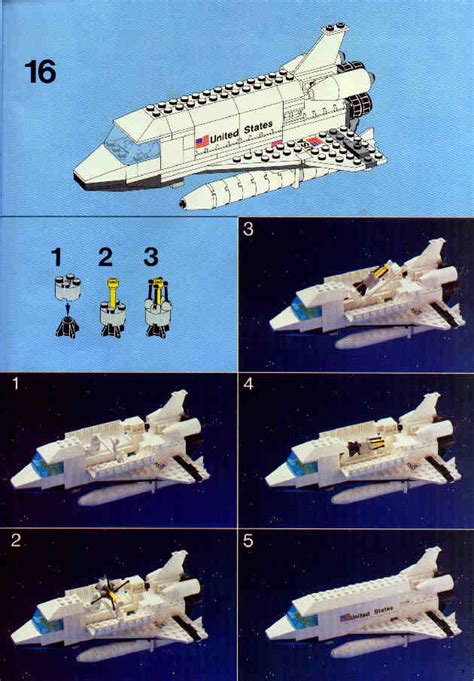 LEGO 1682 Space Shuttle Instructions, City