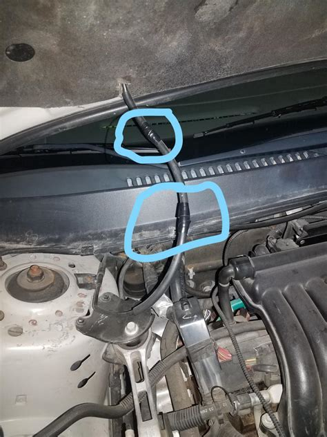 Windshield Washer Hose Keeps Getting cut