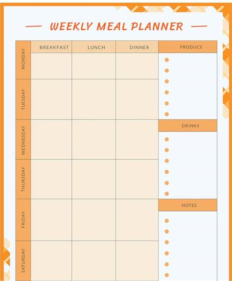 FREE 17+ Meal Planning Templates in PDF | Excel | MS Word