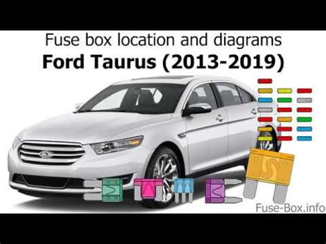 Fuse box location and diagrams: Ford Taurus (2013-2019