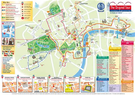London Attractions Map PDF - FREE Printable Tourist Map
