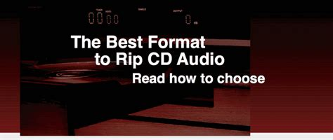 Best Format to Rip CD Audio: How to Choose [Article]
