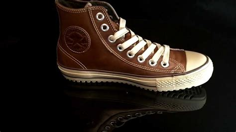Converse Boot Mid Leather Pinecone 115714 - YouTube