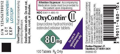 OxyContin - FDA prescribing information, side effects and uses
