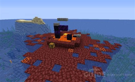 Islands with Nether Portal seed for Minecraft 1