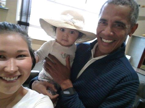 'Who is this pretty girl?' Barack Obama's selfie holding a