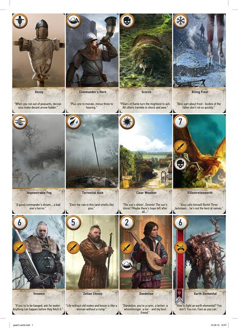 Complete Printable GWENT Cards High Resolution