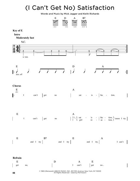 (I Can't Get No) Satisfaction   Sheet Music Direct
