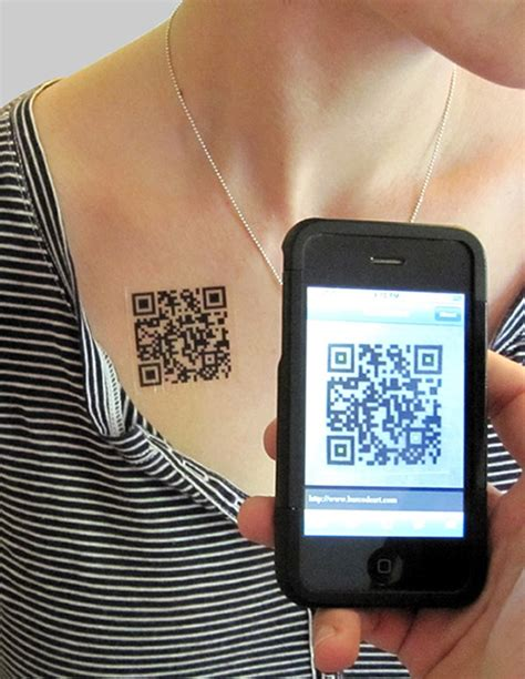 Scan Yourself: Geeky Barcode (QR Code) Tattoos | Bit Rebels