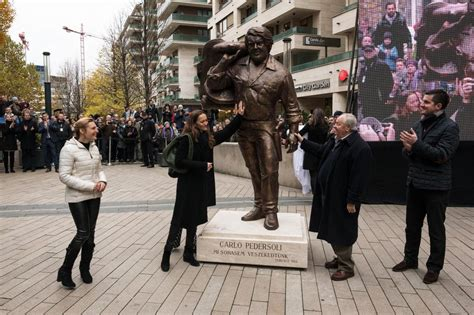 Statue of Actor Bud Spencer Unveiled in Budapest - Hungary