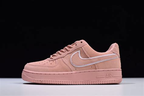 2018 Nike WMNS Air Force 1 '07 LV8 Low Red Suede Pink