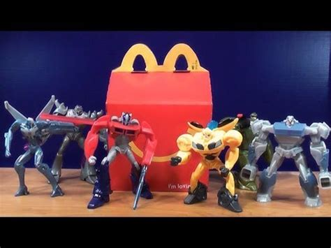 TRANSFORMERS PRIME 2013 MCDONALD'S HAPPY MEAL TOY REVIEW