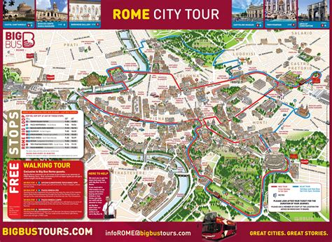 Rome Attractions Map PDF - FREE Printable Tourist Map Rome